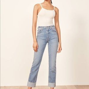 Reformation Cynthia high waisted jean with cuff